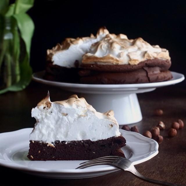 Chocolate Hazelnut Cake With Meringue