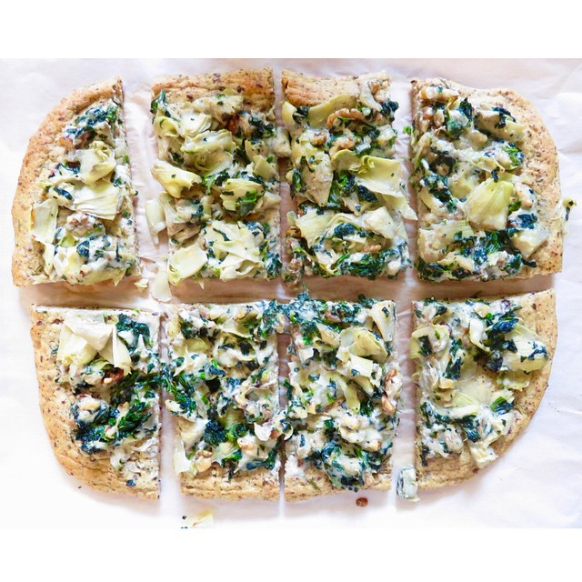 Spinach, Artichoke, And Gorgonzola Pizza