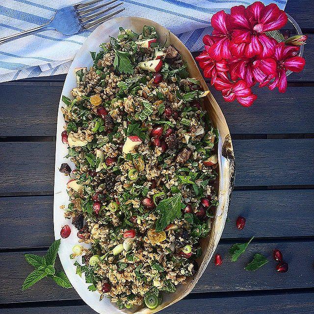Herb Tabbouleh Salad With Bulgur Wheat Fruit