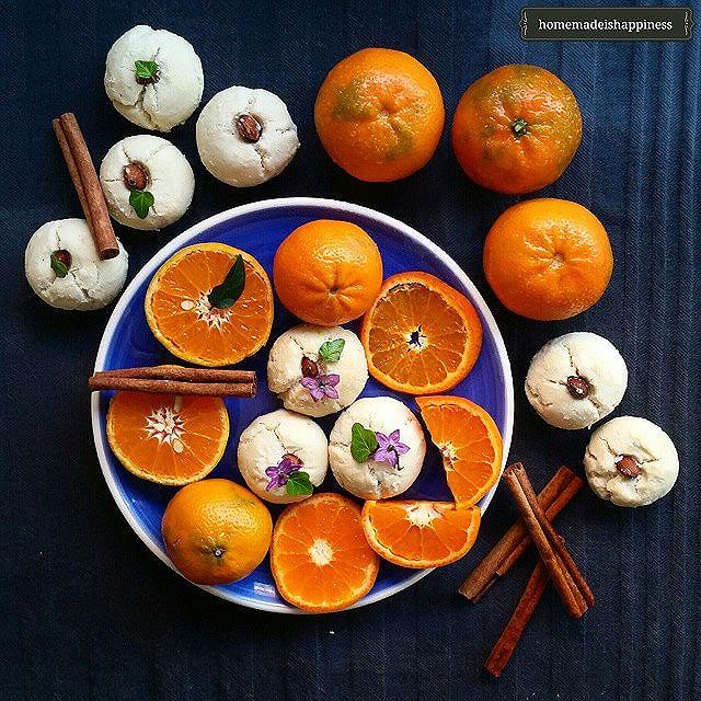 Mandarin Orange, Almond & Cinnamon Cookies