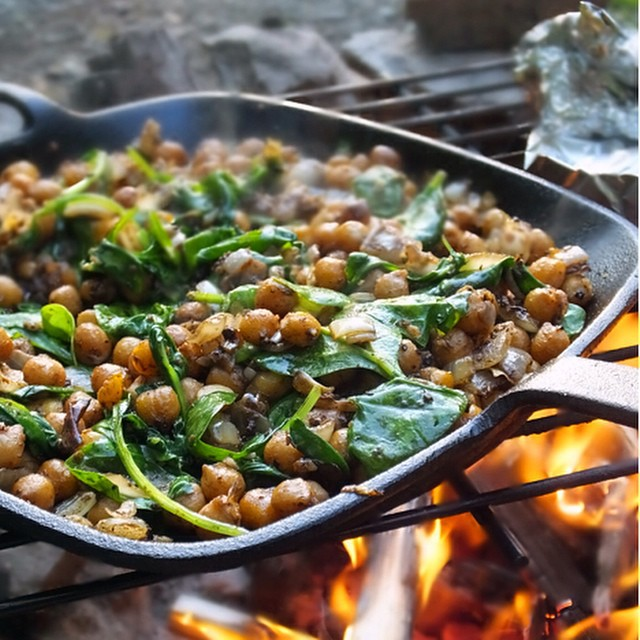 Middle Eastern Camp Fire Chickpeas