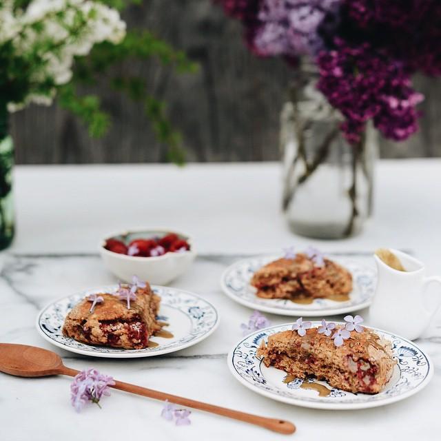 Vegan Lilac & Raspberry Scones