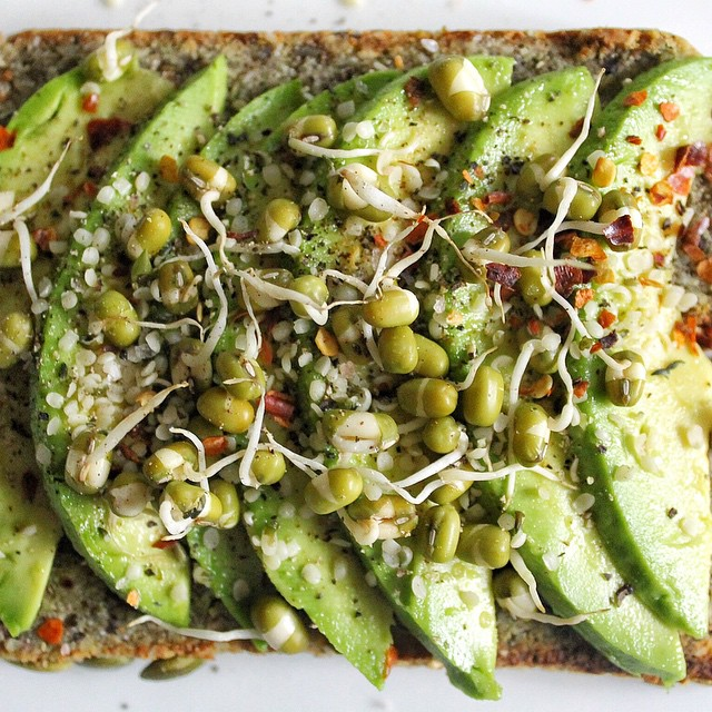 Avocado + Sprouted Mung Bean + Hemp Seed + Chilli Flake Toast