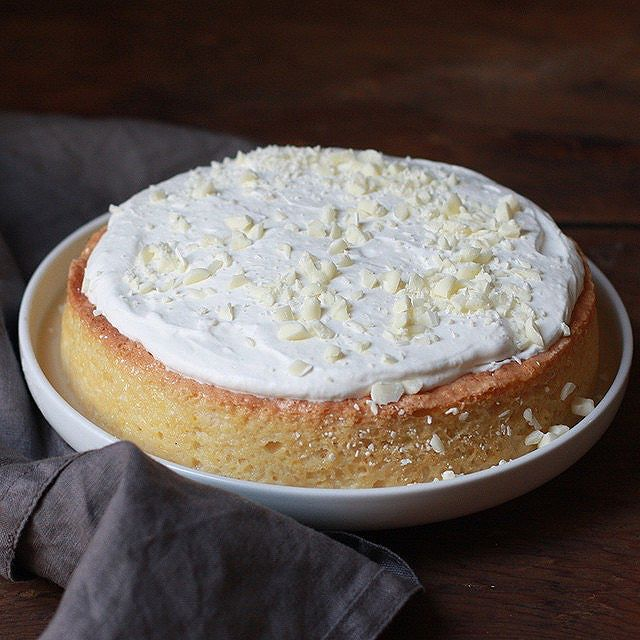White Chocolate Tres Leches Cake With Whipped Cream