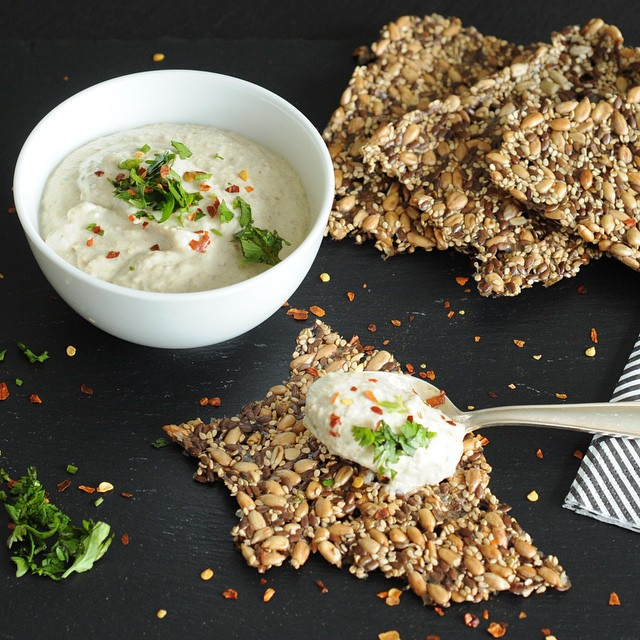 Low Carb Lentil Feta Dip With Cilantro And Red Pepper Flakes