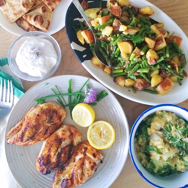 Grilled Chicken With Tandoori  Vinaigrette Potatoes