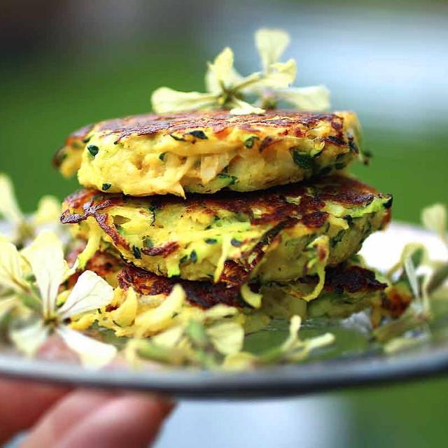 Zucchini & Onion Falafel Fritters