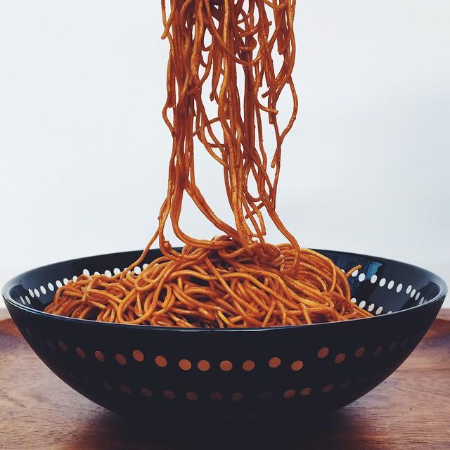 Sriracha Honey Garlic Noodles