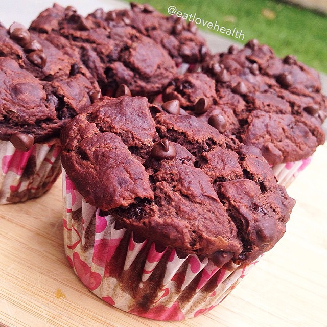 Healthified Double Chocolate Muffins
