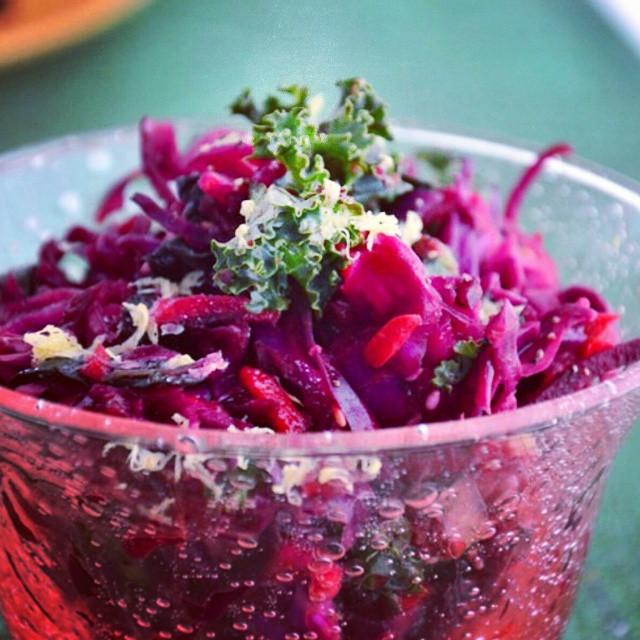 Superfood Lemon Kale Beet Salad
