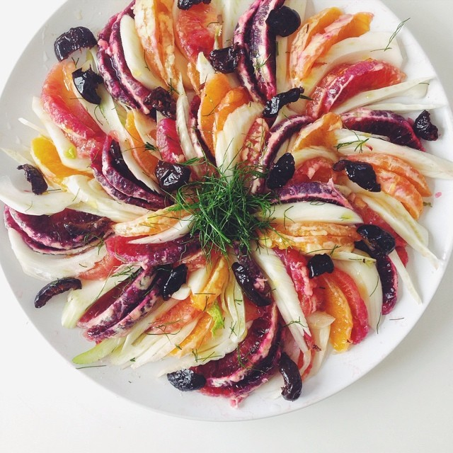 Blood Orange And Fennel Salad With Salty Oil Cured Olives