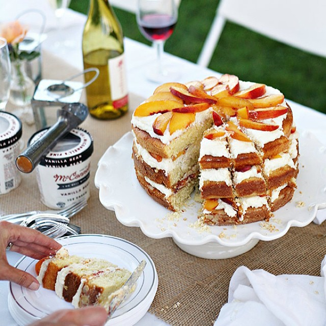 Amaretto Peach Layer Cake