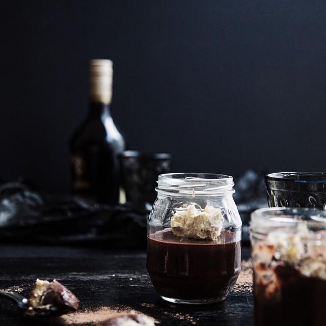 Chocolate Nutella Pots With Irish Cream