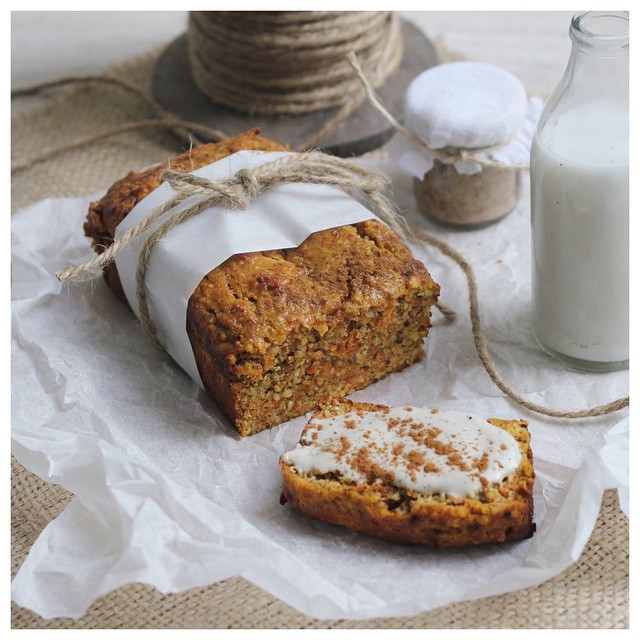 Carrot Cake Loaf With Cashew Icing