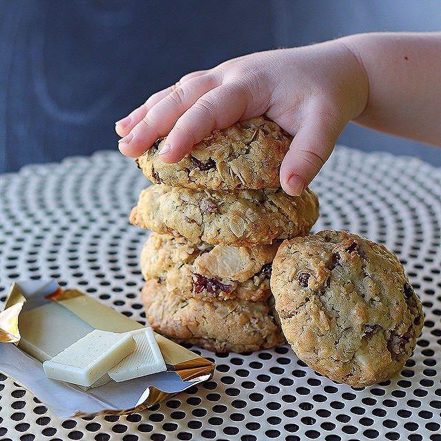 White Chocolate Chunk & Raisin Nut Cookies