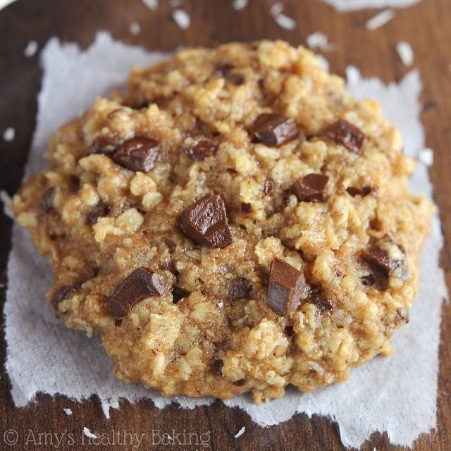 Almond & Coconut Chocolate Oatmeal Cookies