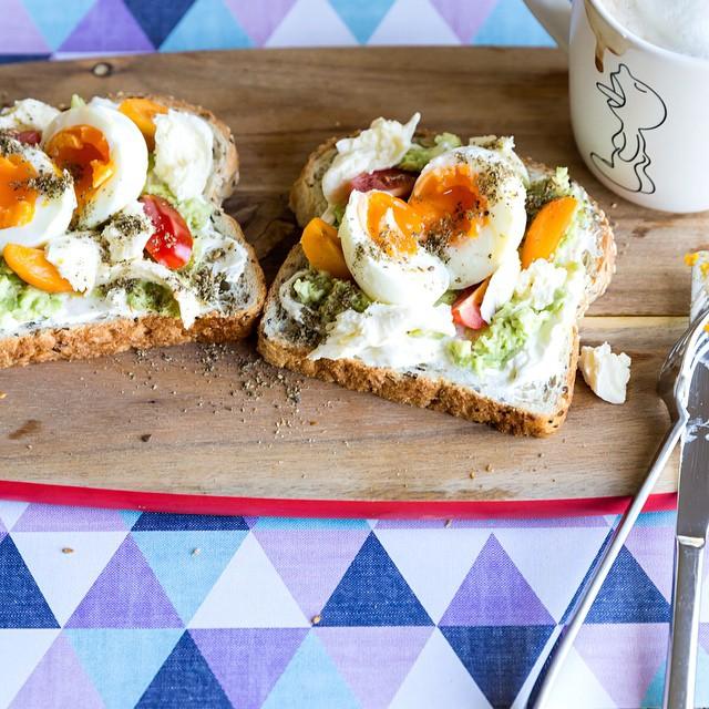 Labne Za'taar Egg Avocado Toast