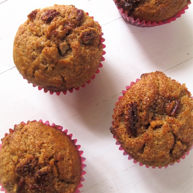 Spiced Muffins With Brown Sugar & Pecan Topping