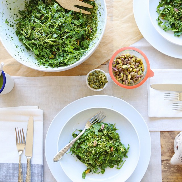 Green Couscous And Pistachio Salad