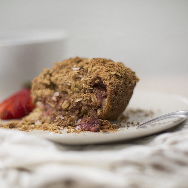 Sous Vide Macerated Strawberry And Rhubarb Filled Coffee Cake