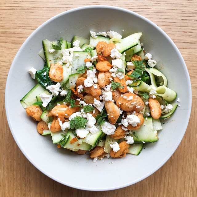 Butter Bean And Zucchini Salad