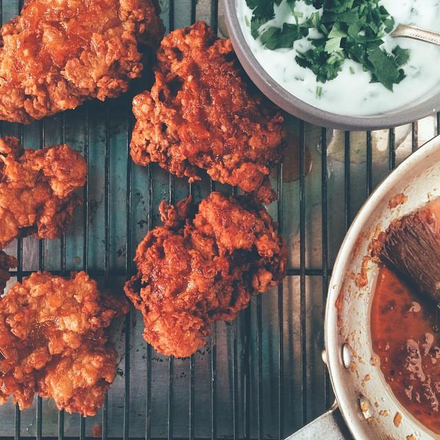 Indian Fried Chicken With Mango Chutney Glaze, Cumin & Cayenne