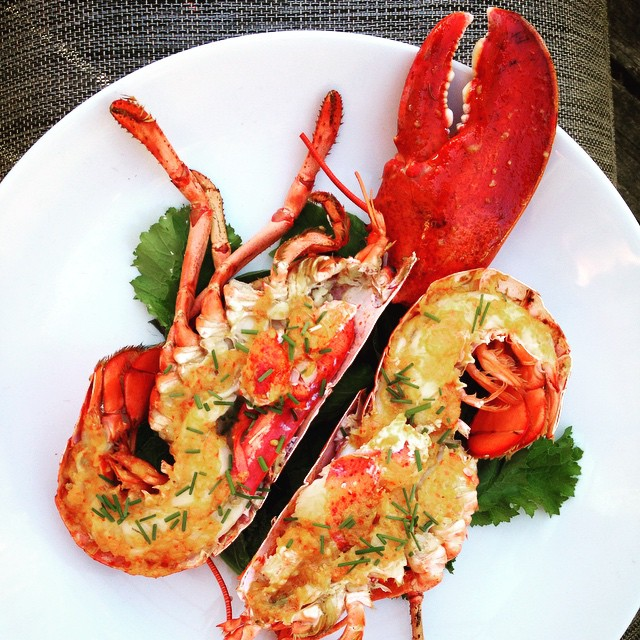 Grilled Maine Lobster With Miso Chili Butter