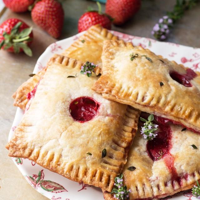 Savory Strawberry & Goat Cheese Hand Pies