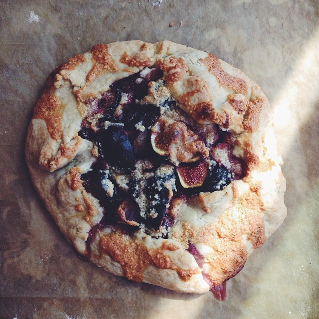 Figs & Frangipane Galette With Vanilla