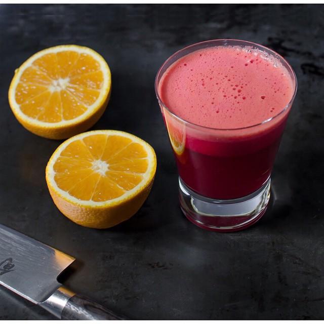 Beet, Carrot, Valencia Orange And Cherry Juice