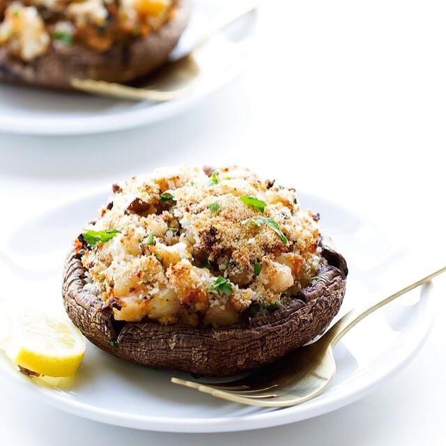Shrimp Stuffed Portobello Mushrooms
