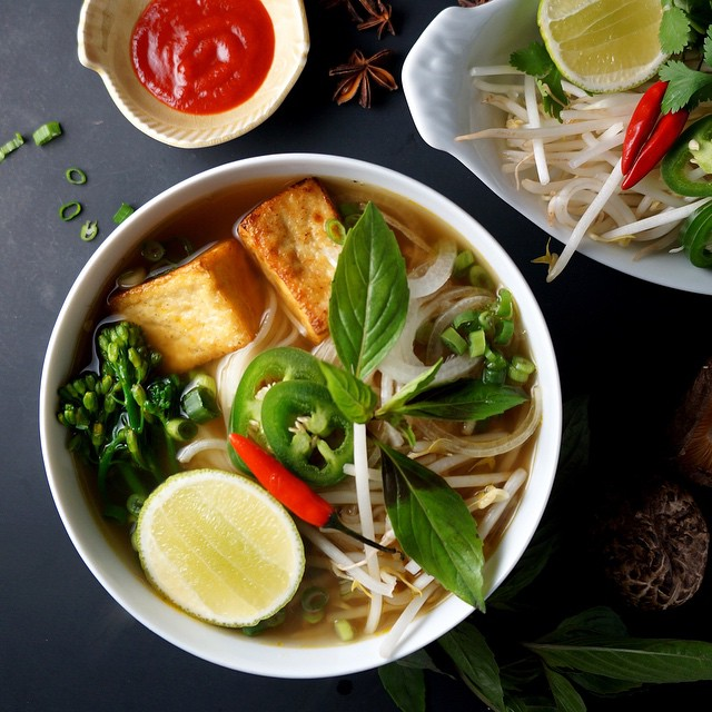 Vegan Pho With Tofu And Thai Basil