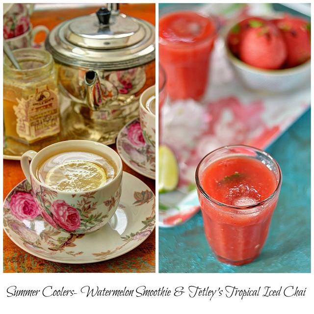 Watermelon Smoothie & Tetley's Tropical Iced Chai