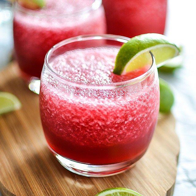 Cherry And Hibiscus Beer Margaritas