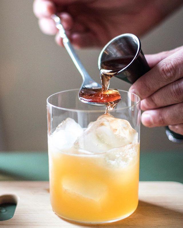 Rye Whiskey & Bourbon New York Sour