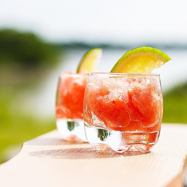 Frozen Tequila Lime Watermelon Shots
