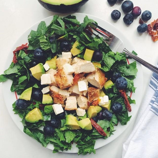 Collard, Mustard & Turnip Greens Salad