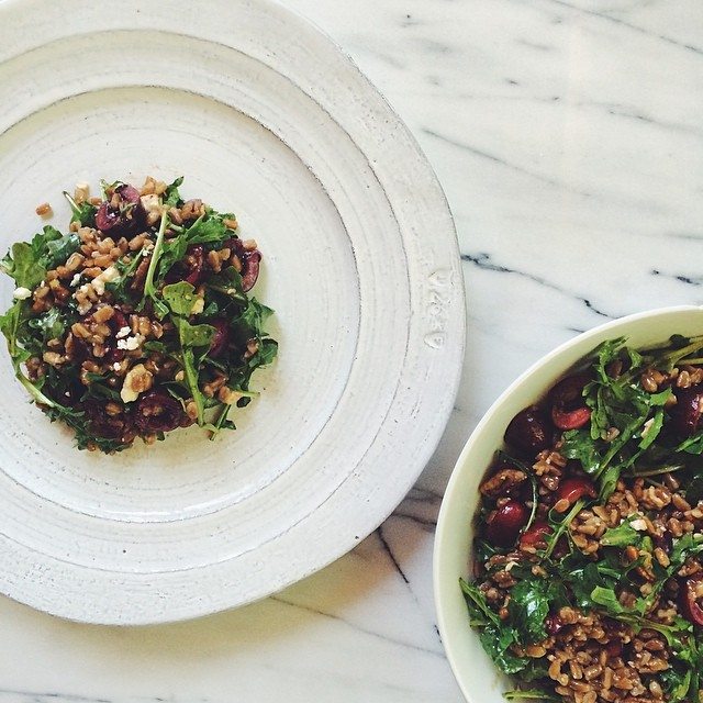 Cherry & Arugula Farro Salad
