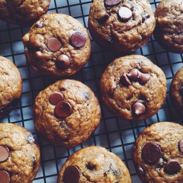 Banana & Chocolate Chip Muffins