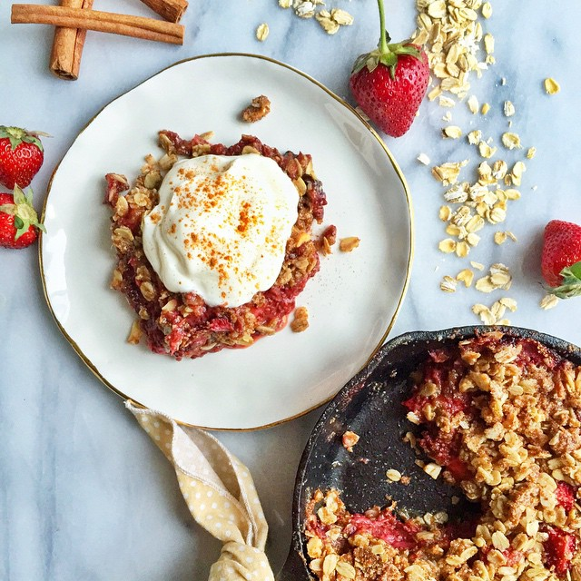 Strawberry-rhubarb Chia Crisp