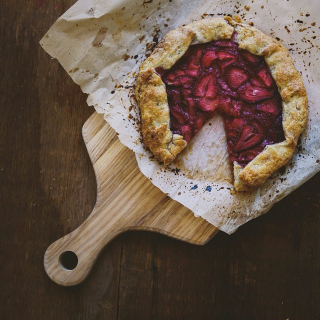Strawberry Buttermilk Galette With Elderflower Syrup And Rosemary