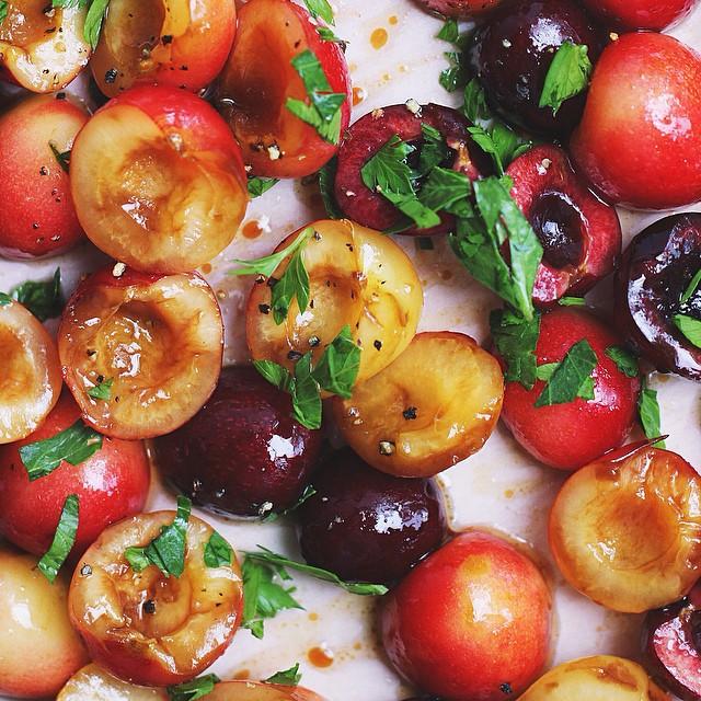Savory Roasted Cherries
