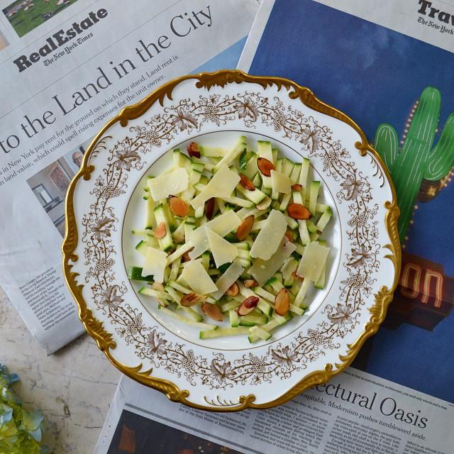 Zucchini Carpaccio With Pecorino