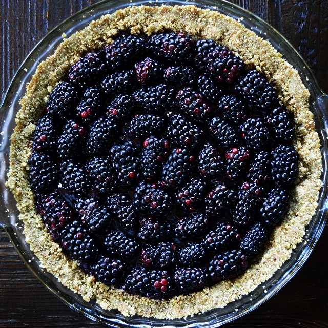 Berry Tart With Pepita & Almond Crust (raw)