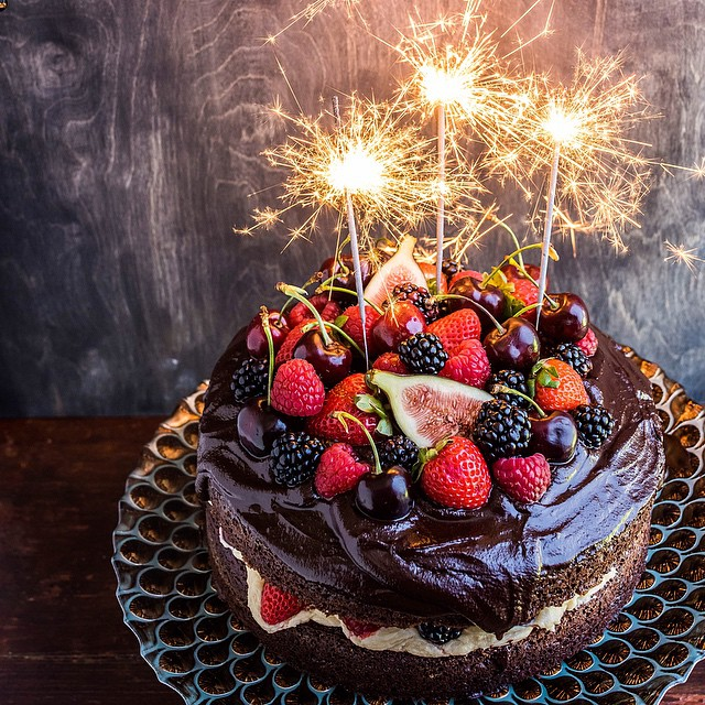 Chocolate Cherry Baileys Cake With Butter Cream Fresh Fruit Recipe
