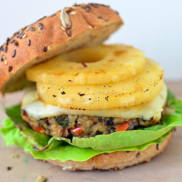 Hawaiian Veggie Burgers