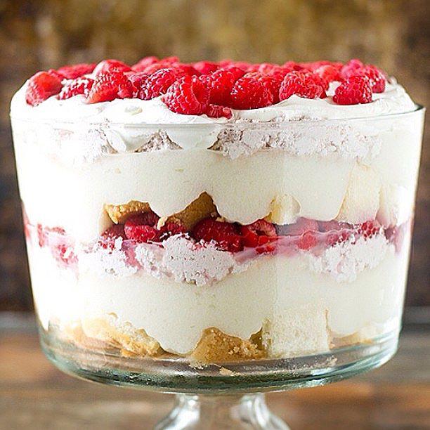 White Chocolate Raspberry Trifle