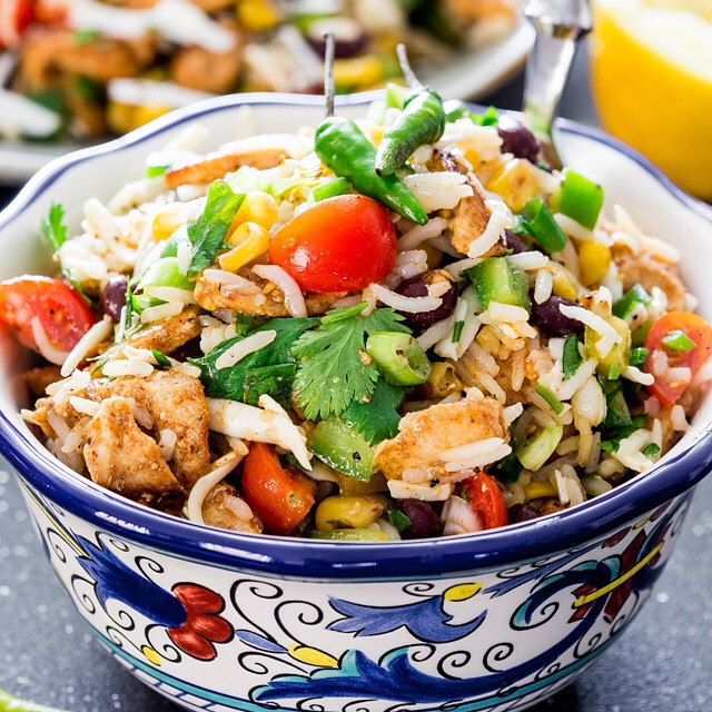 Southwest Chicken And Rice Salad