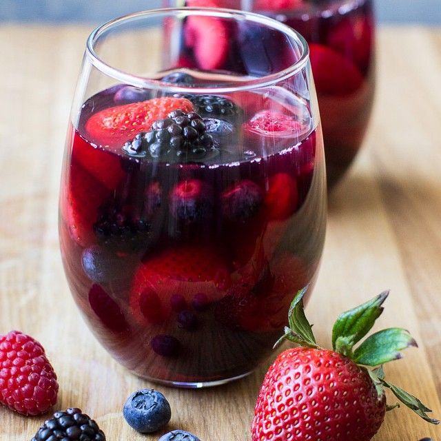 Mixed Berry And Iced Tea Red Sangria