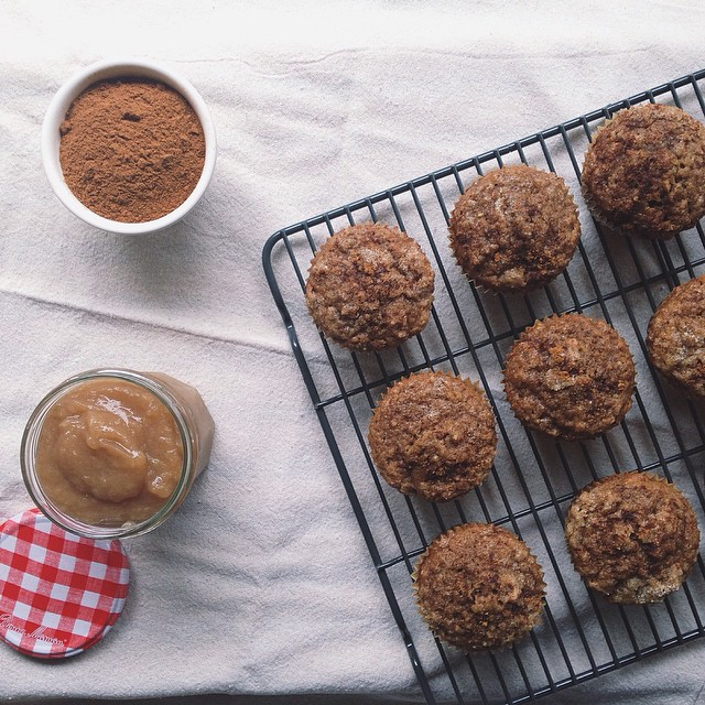 Whole Wheat Spiced Applesauce & Quinoa Muffins